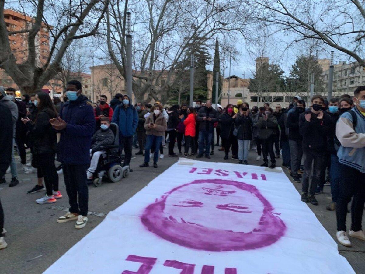 Concentración de apoyo a Pablo Hasel ante el rectorado de la Universitat de Lleida - EUROPA PRESS