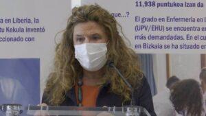 La consejera de Salud del Gobierno Vasco, Gotzone Sagardui.