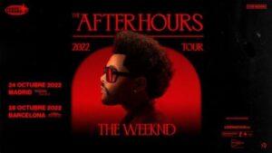 Cartel de los conciertos de The Weeknd en España en 2022