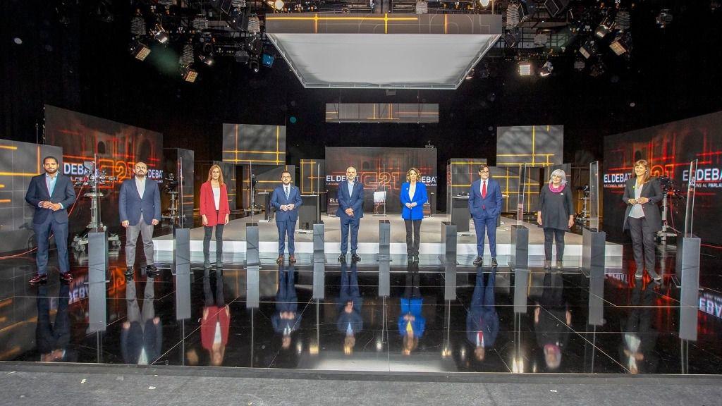Los candidatos del 14F en el debate electoral organizado por TV3
