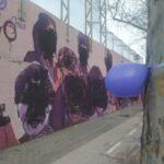 El mural feminista de Ciudad Lineal amanece vandalizado este 8M