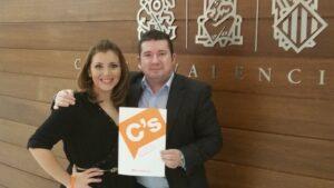 La vicealcaldesa de Alicante, Mari Carmen Sánchez, y el senador valenciano de Ciudadanos Emilio Argüeso