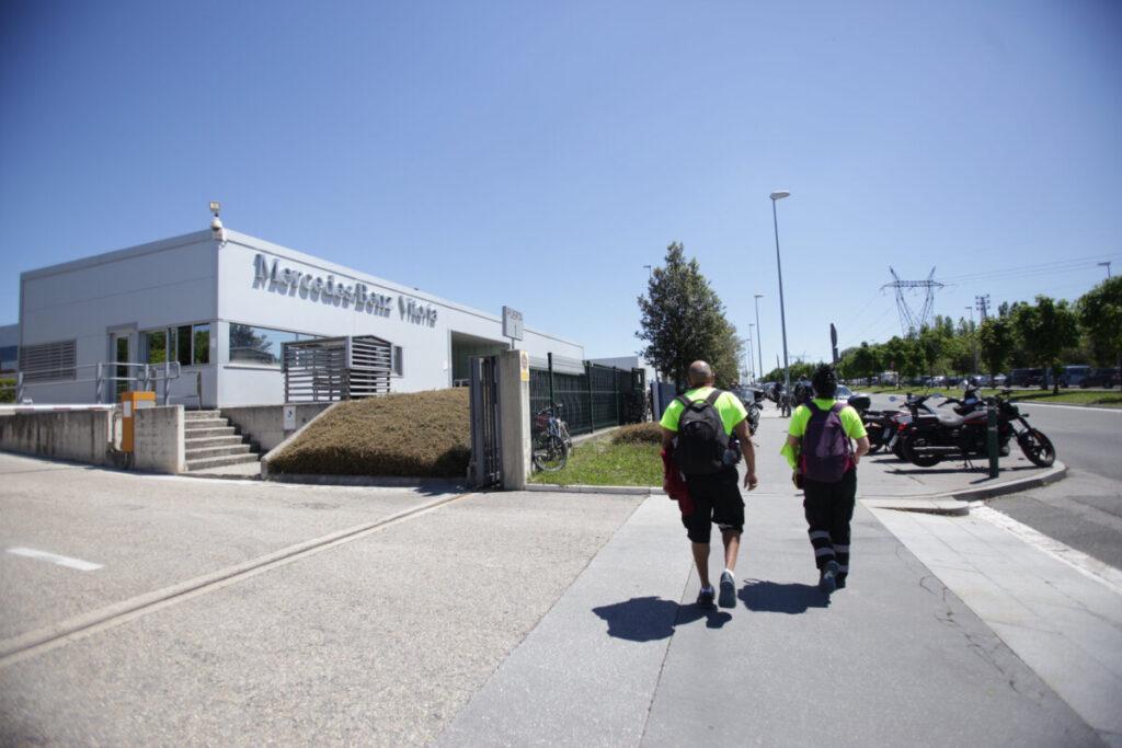 Fachada de la planta de Mercedes-Benz de Vitoria