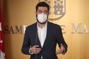 El portavoz de Ciudadanos en la Asamblea de Madrid, César Zafra