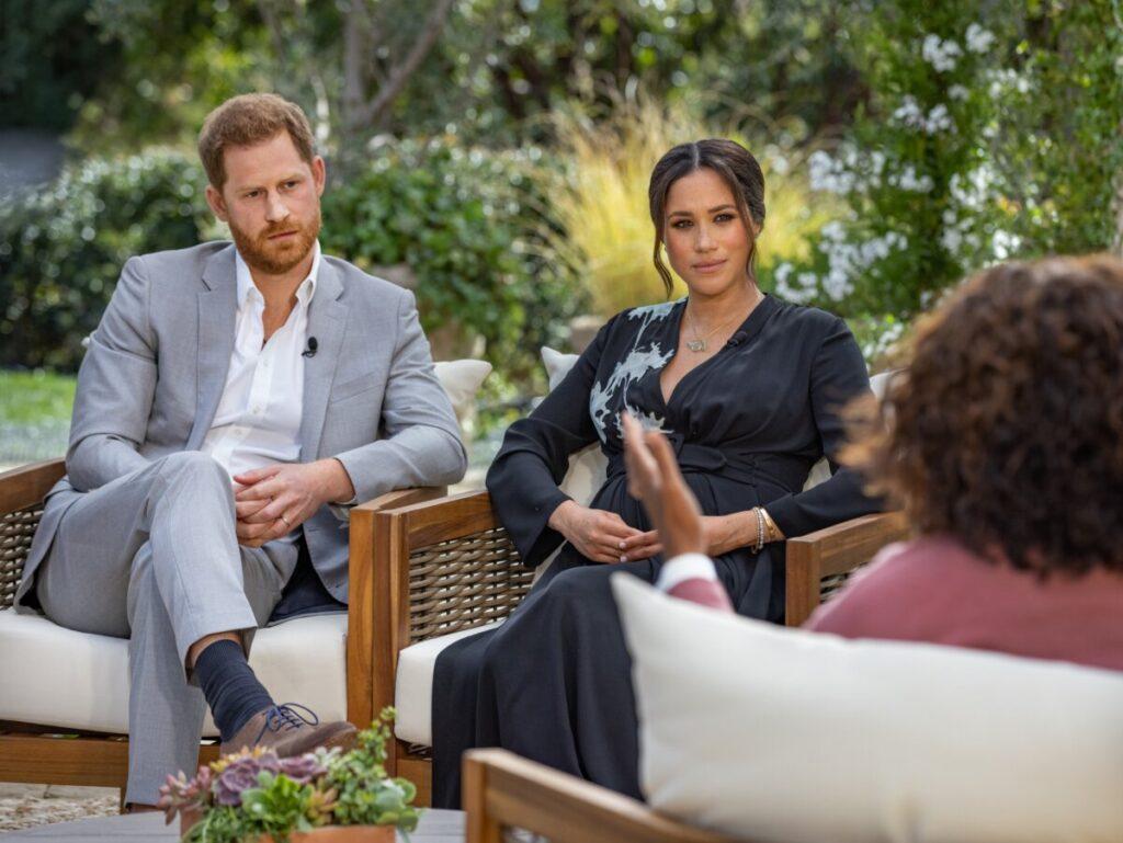 Los duques de Sussex durante la entrevista con Oprah Winfrey. - Joe Pugliese/Harpo Productions v / DPA