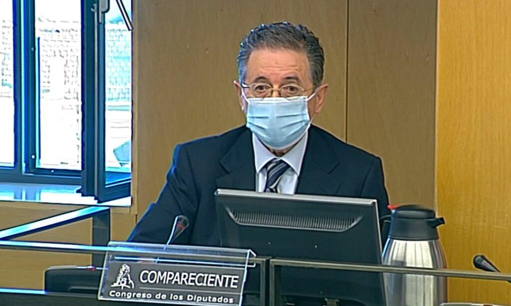 El director del Gabinete de Coordinación y Estudios de la Secretaría de Estado de Seguridad, José Antonio Rodríguez, durante su intervención en la comisión Kitchen del Congreso - EUROPA PRESS