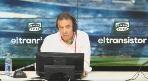 El periodista José Ramón de la Morena, en su despedida de la radio. - ONDA CERO