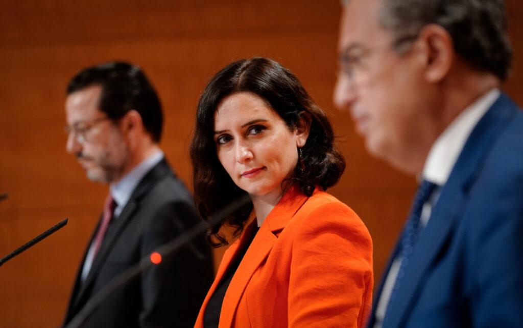 Isabel Díaz Ayuso, Enrique Ossorio y Javier Fernández-Lasquetty