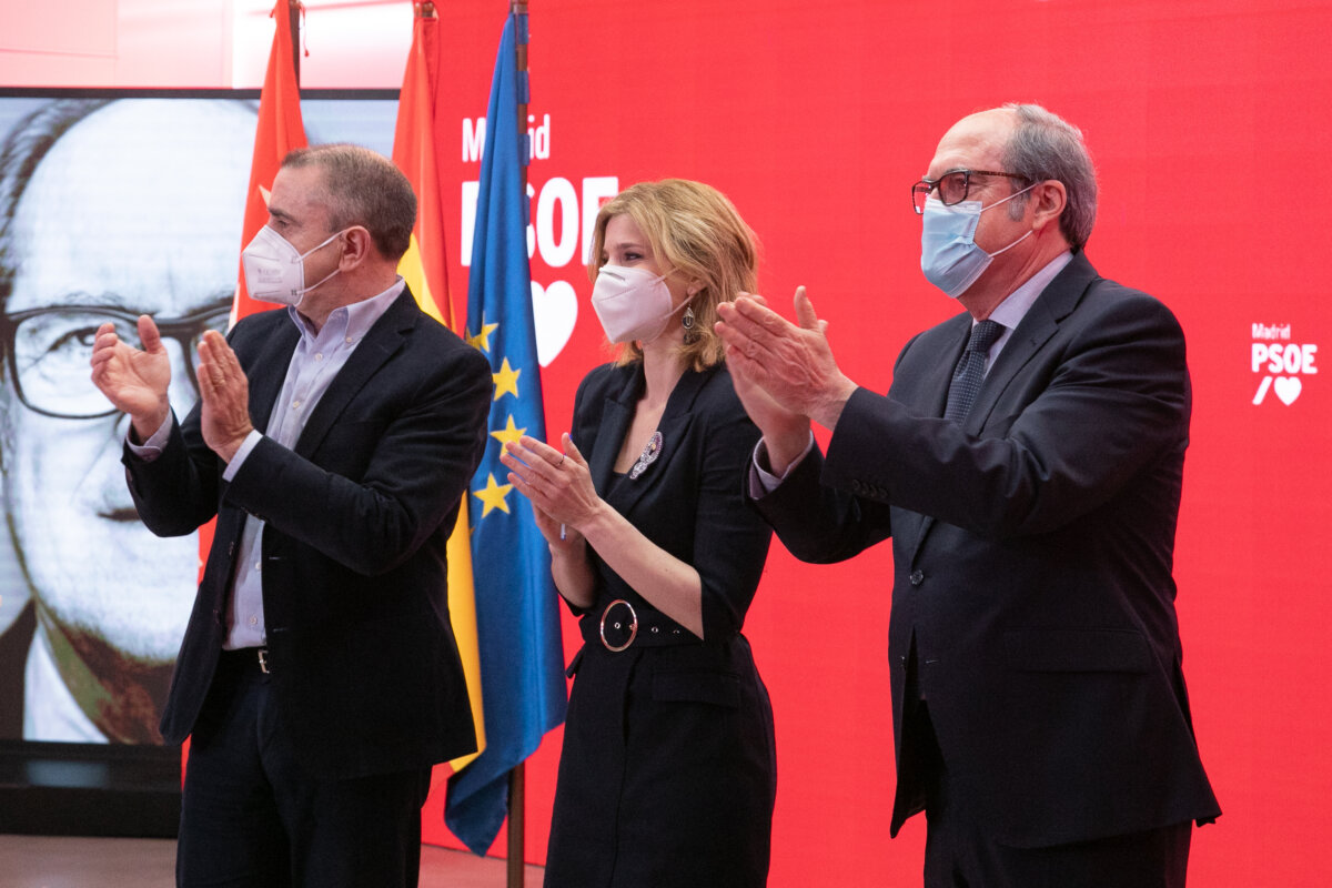 José Manuel Franco, Ángel Gabilondo y Hana Jalloul