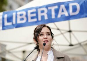 La presidenta de la Comunidad de Madrid, Isabel Díaz Ayuso, en un acto del PP.