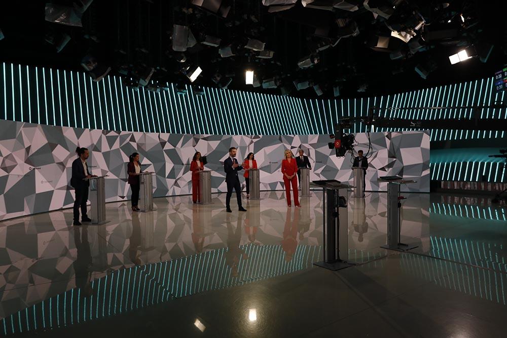 Primer debate electoral previo a los comicios a la Asamblea de Madrid, en Telemadrid - EUROPA PRESS/J. Hellín. POOL - Europa Press