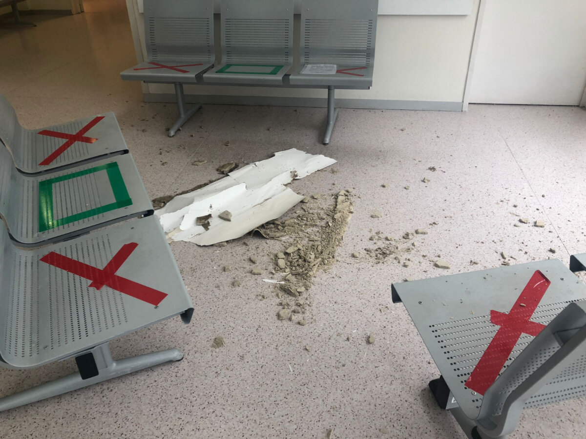 Derrumbe del techo del Hospital Infanta Sofía.