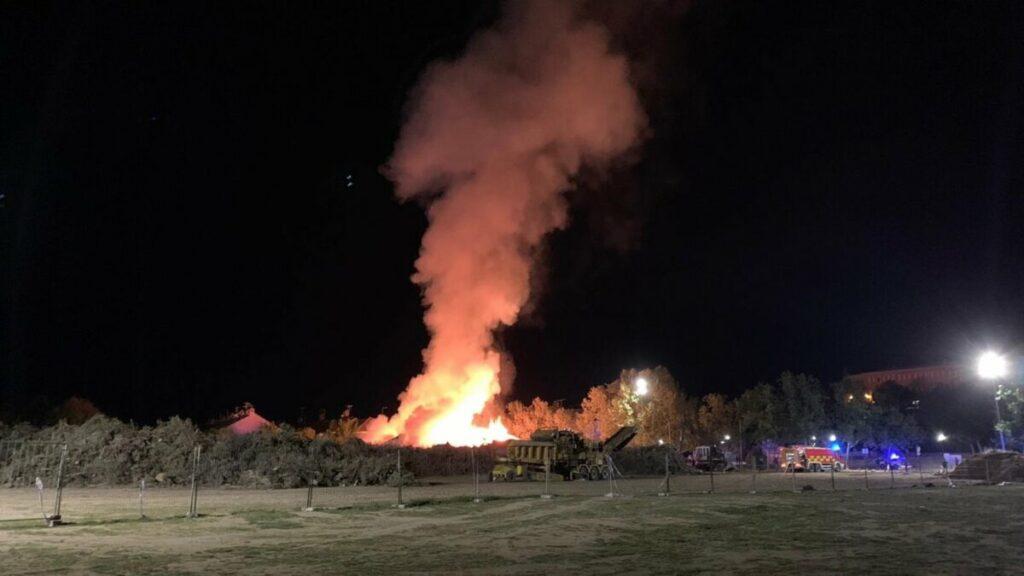 Restos de vegetación acumulados de Filomena provocan un incendio en Villaviciosa de Odón. - EUROPA PRESS