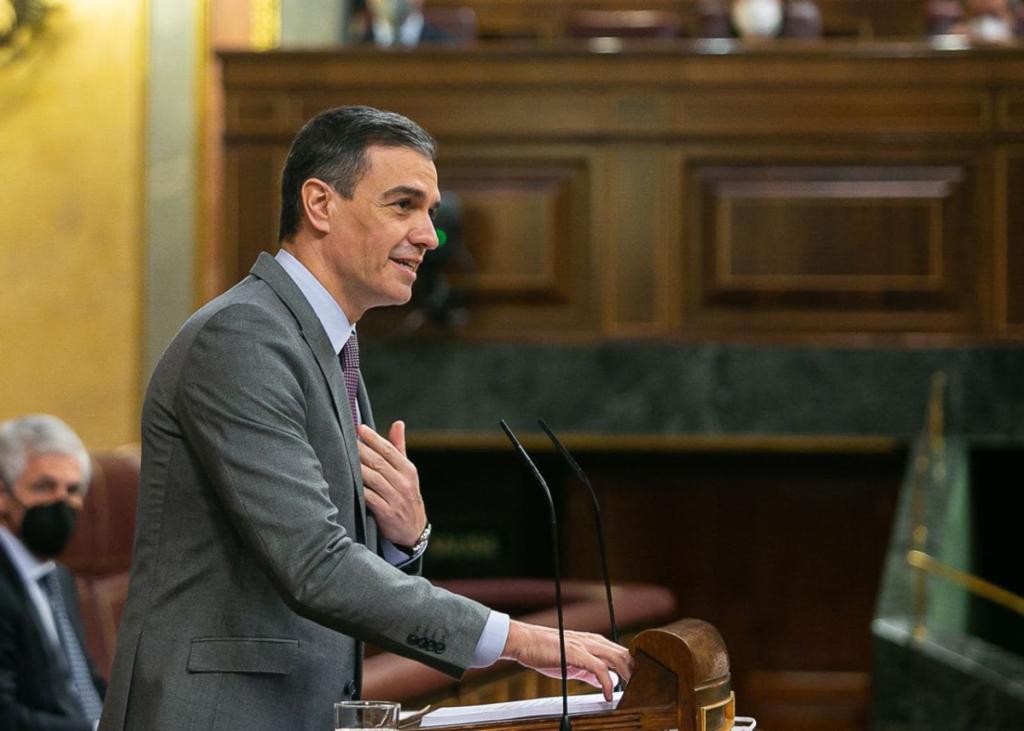 Pedro Sánchez en el Congreso.