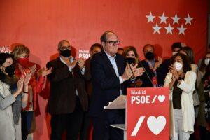 Ángel Gabilondo en la noche electoral.