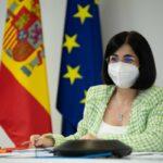 La ministra de Sanidad, Carolina Darias, en la reunión del Consejo Interterritorial de Salud.