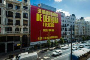 Lona promocional de la Copa Davis en Madrid - COPA DAVIS