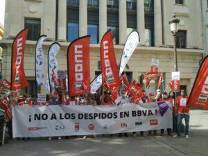 Movilización este lunes 17 contra los despidos en BBVA. - CCOO