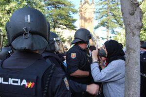 Intervención policial contra disturbios en Ceuta - EUROPA PRESS