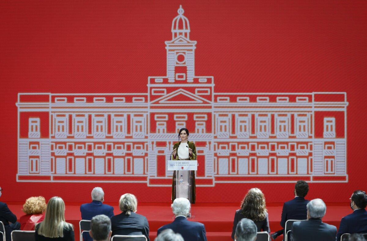 La presidenta de la Comunidad de Madrid, Isabel Díaz Ayuso, en los actos del 2 de mayo.