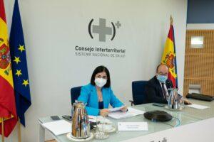 Carolina Darias y Miquel Iceta en la reunión del Consejo Interterritorial de Salud.