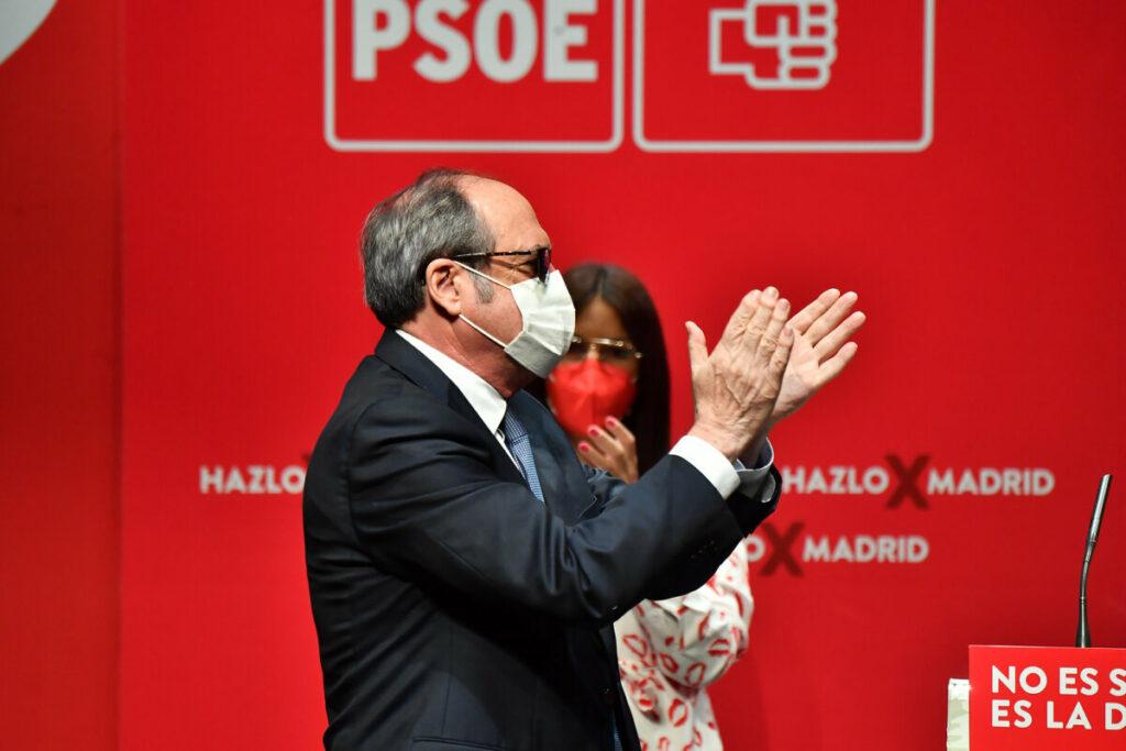 El candidato del PSOE a las elecciones del 4 de mayo, Ángel Gabilondo.