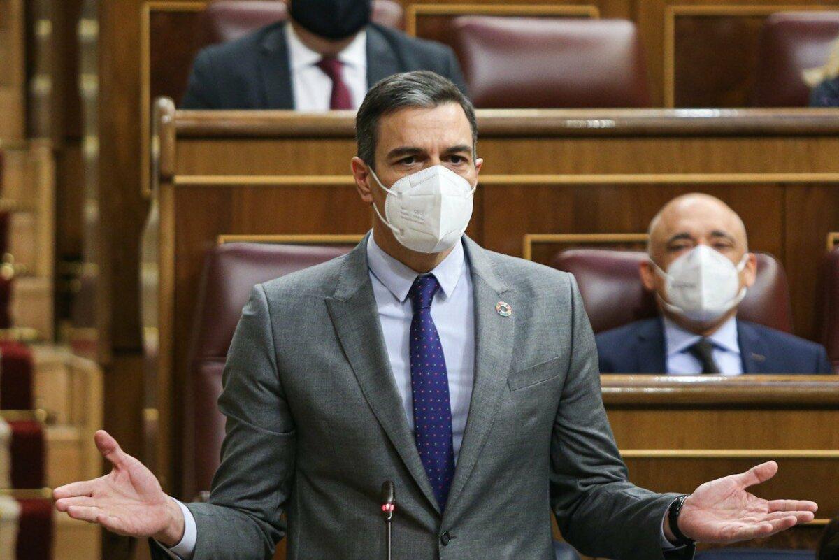El presidente del Gobierno, Pedro Sánchez, en la sesión de control del Congreso.