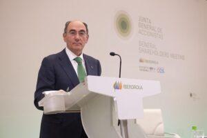 El presidente de Iberdrola, Ignacio Galán, en la junta de la compañía - IBERDROLA
