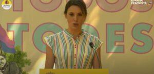 Archivo - La ministra de Igualdad, Irene Montero, en el acto por el Orgullo LGTBI 2021 - MINISTERIO DE IGUALDAD/YOUTUBE - Archivo