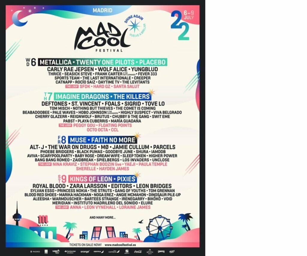 Cartel de la edición de Mad Cool 2022 - MAD COOL