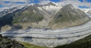 El Glaciar Aletsch, el mayor en los Alpes - OMM