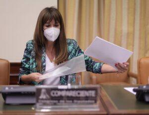 La directora de la Asociación para la Prevención, Reinserción y Atención a la Mujer Prostituida (APRAMP), Rocío Mora Nieto, en el Congreso de los Diputados - Eduardo Parra - Europa Press