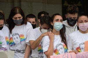 Los amigos de Samuel durante una manifestación para condenar el asesinato del joven de 24 años el pasado sábado en A Coruña debido a una paliza, a 5 de julio de 2021, en A Coruña - M. Dylan - Europa Press