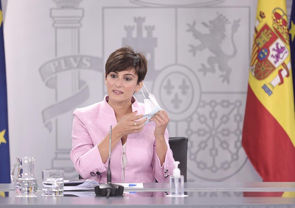 La ministra Portavoz y ministra de Política Territorial, Isabel Rodríguez