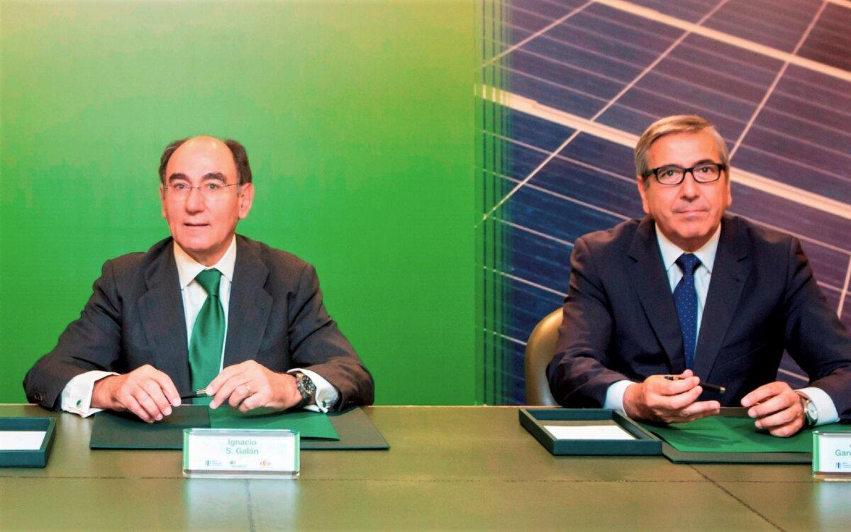Ignacio Galán, presidente de Iberdrola, con el presidente del ICO, José Carlos García de Quevedo