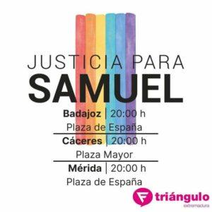 La Fundación Triángulo de Extremadura se suma a las concentraciones por el asesinato de Samuel - FUNDACIÓN TRIÁNGULO
