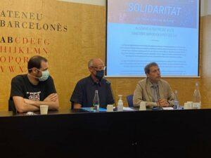 El presidente de la Caixa de Solidaritat, Pep Cruanyes, con el exsecretario general de Diplocat Albert Royo - CAIXA DE SOLIDARITAT