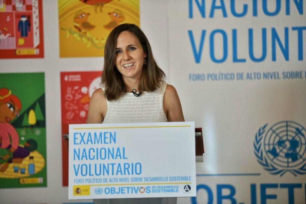 La ministra de Derechos Sociales y Agenda 2030, Ione Belarra. - DANI GAGO