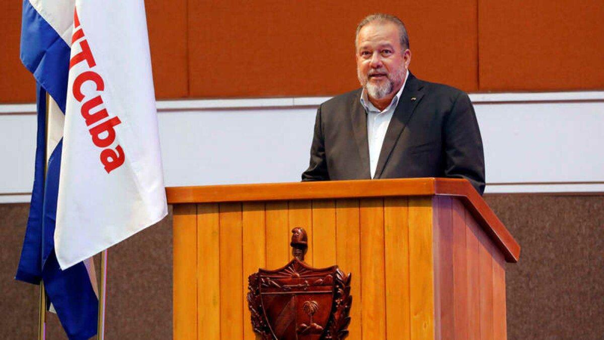 El primer ministro de Cuba, Manuel Marrero