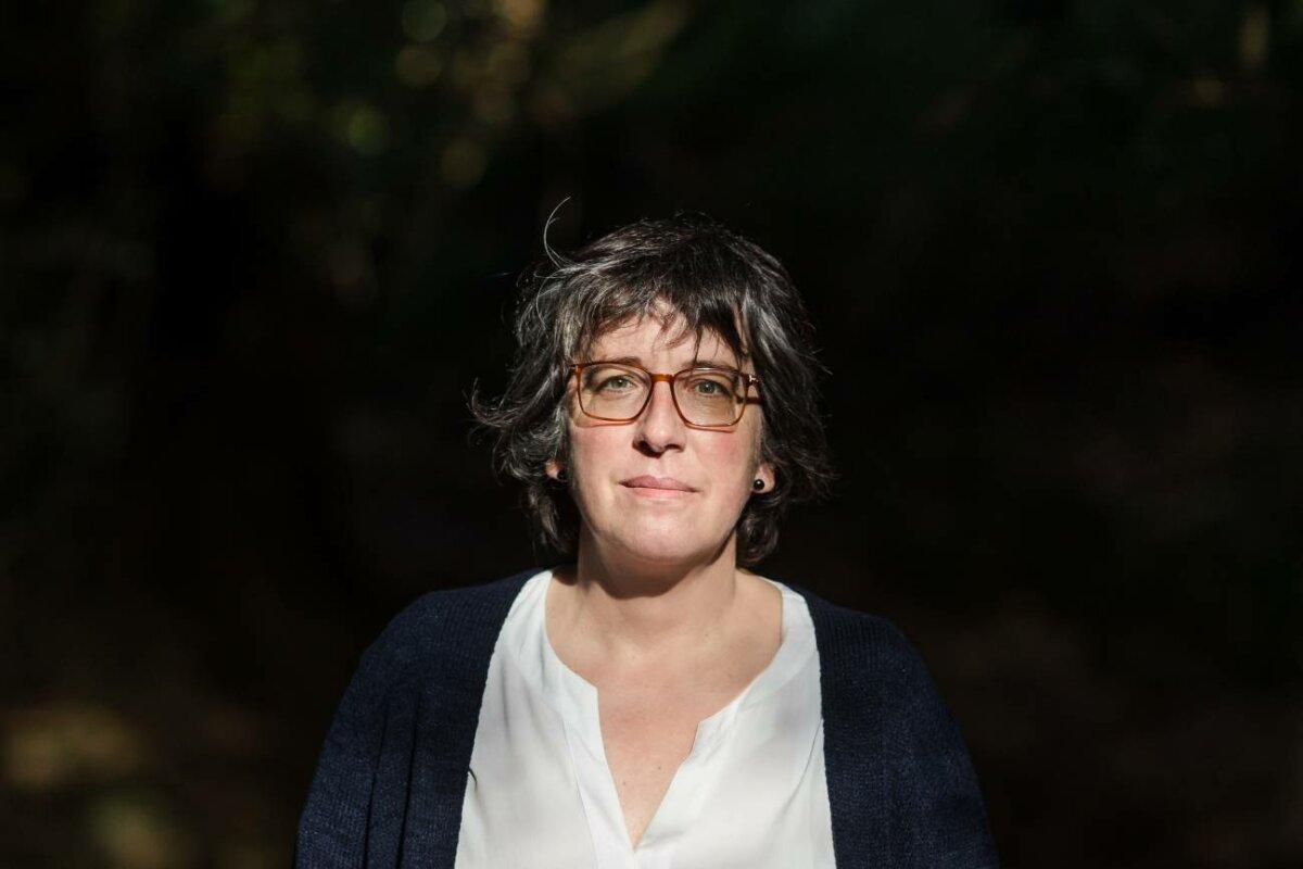 Cristina Fernández en el Centro de Investigación Forestal de Lourizán. / Nacho Morán (SINC)