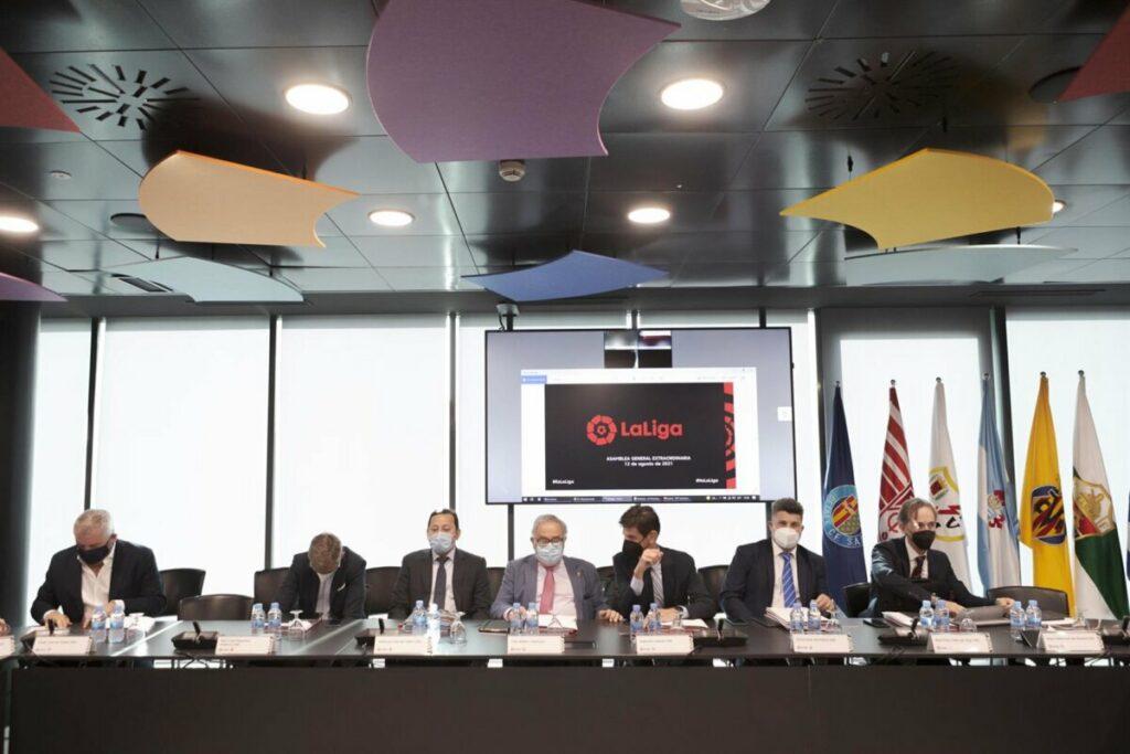Imagen de la Asamblea Extraordinaria de LaLiga - GUILLERMO MARTÍNEZ