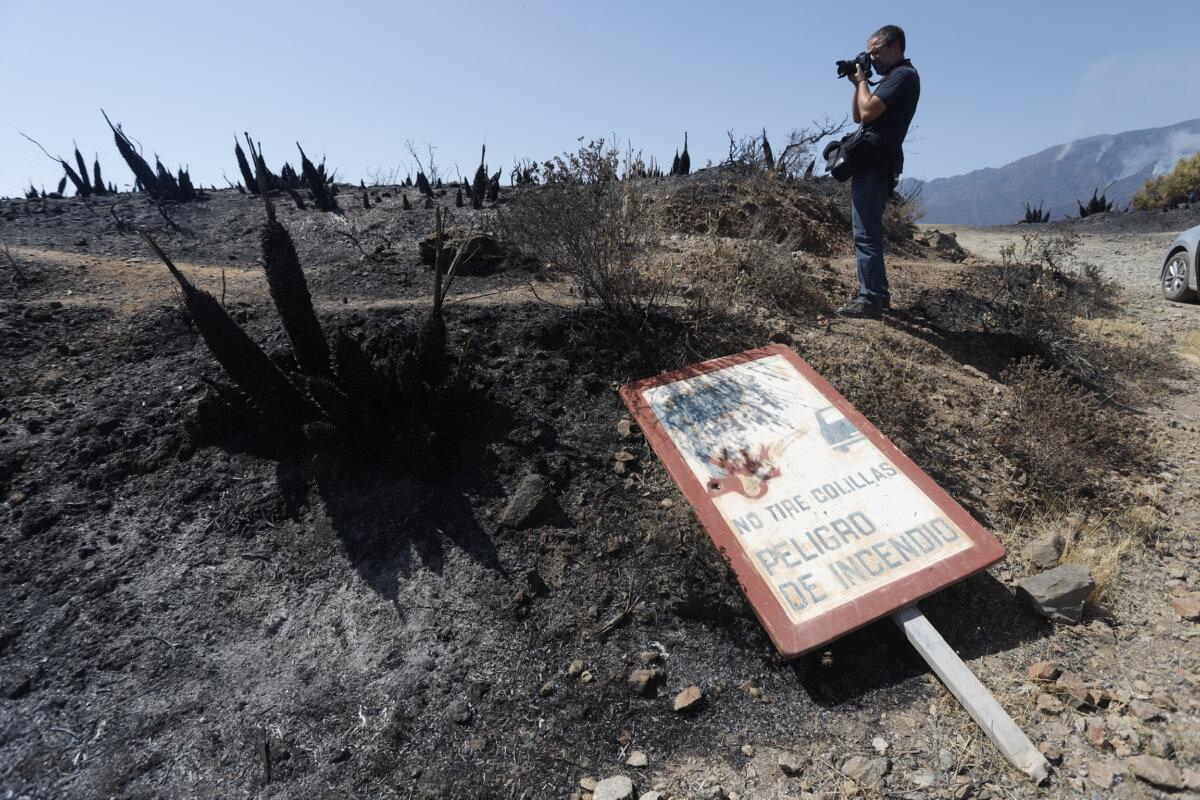 Parajes quemados por el incendio - Álex Zea - Europa Press
