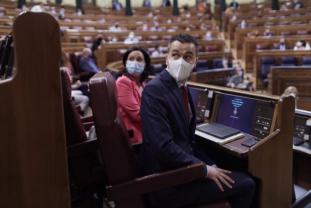 El nuevo portavoz del PSOE en el Congreso, Héctor Gómez, durante una sesión plenaria en el Congreso - Eduardo Parra - Europa Press