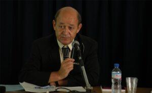 El ministro de Exteriores francés, Jean-Yves Le Drian