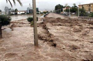 Inundación repentina en Pulpí (Almería) en septiembre de 2012 | Foto: Aemet