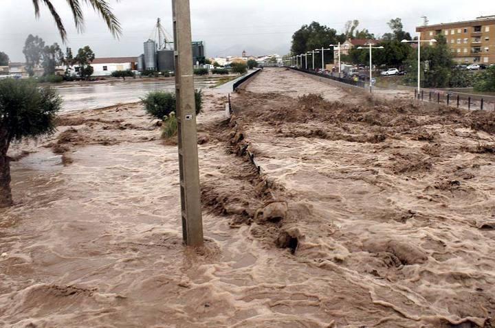 Inundación repentina en Pulpí (Almería) en septiembre de 2012   Foto: Aemet