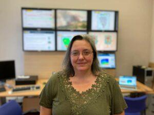 Alicia Felpeto en las oficinas de IGN. / Foto cedida por la autora