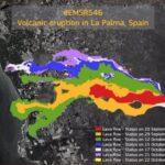 Copernicus actualiza el monitoreo en la zona del volcán, que afecta ya a 889 hectáreas y 2.263 edificaciones