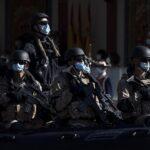 Militares durante el desfile militar en el Día de la Fiesta Nacional - Eduardo Parra - Europa Press