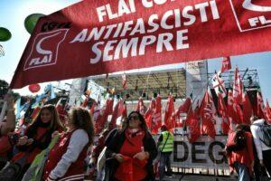 Marcha antifascista de la CGIL en Roma - CGIL